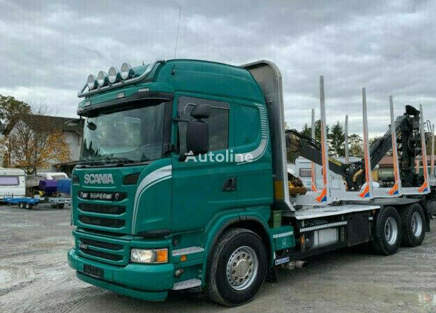 SCANIA R480 Holztransporter Euro 5 Kesla m. Menke -Janzen Exte (45)  Holztransporter LKW